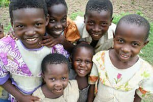 group of local children