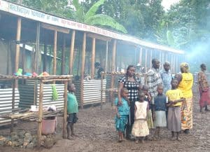 Joyce Wanda visits camp for landslide survivors