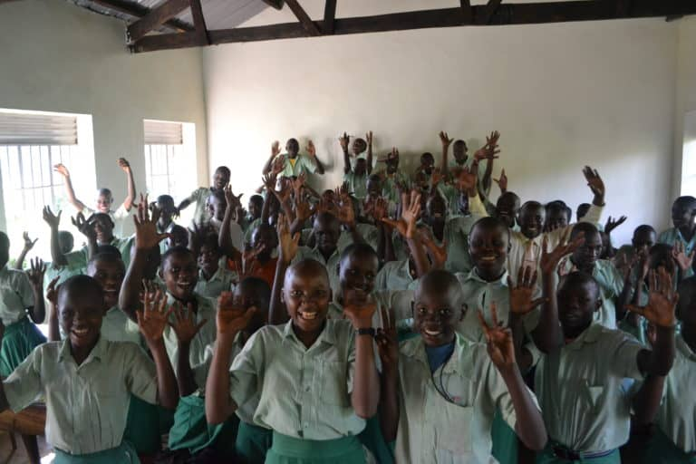 Students at Arlington Academy of Hope in Uganda