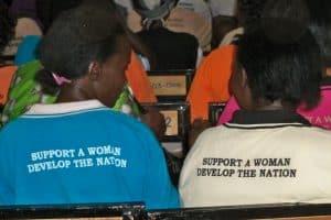 women in microfinance meeting