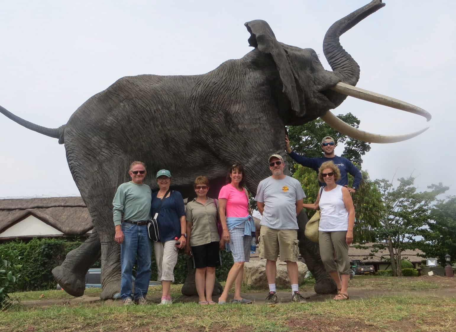 adult trip with elephant statue